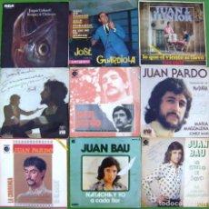 Discos de vinilo: LOTE 9 SINGLES (JUAN Y JUNIOR, JUAN BAU, JUAN PARDO, JOAQUIN CARBONELL, JOSE GUARDIOLA). Lote 213109845