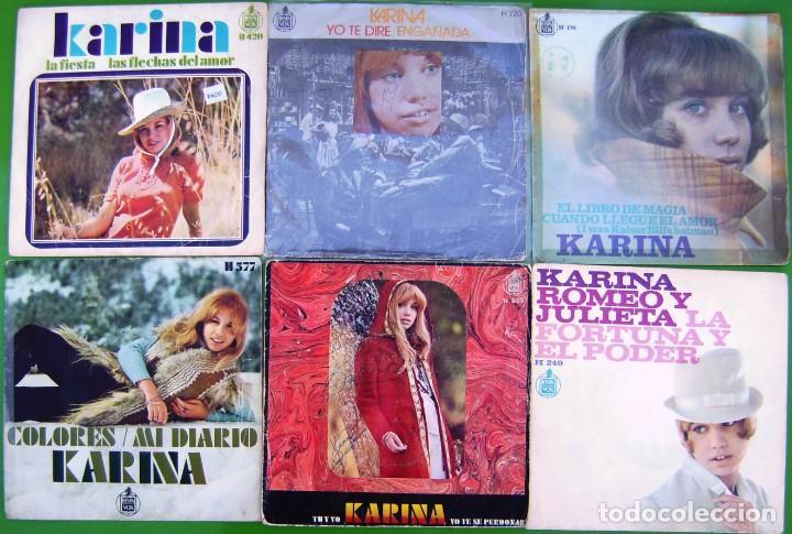 LOTE 6 SINGLES DE KARINA (Música - Discos - Singles Vinilo - Solistas Españoles de los 50 y 60)
