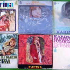 Discos de vinilo: LOTE 6 SINGLES DE KARINA. Lote 213110153