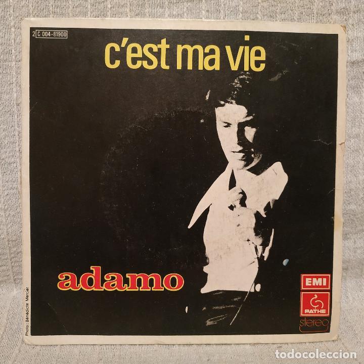 ADAMO - C'EST MA VIE + 1 - SINGLE ORIGINAL FRANCES EMI PATHE DEL AÑO 1975 - FRANCIA (Música - Discos - Singles Vinilo - Canción Francesa e Italiana)