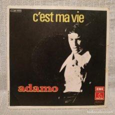 Discos de vinilo: ADAMO - C'EST MA VIE + 1 - SINGLE ORIGINAL FRANCES EMI PATHE DEL AÑO 1975 - FRANCIA. Lote 213111573