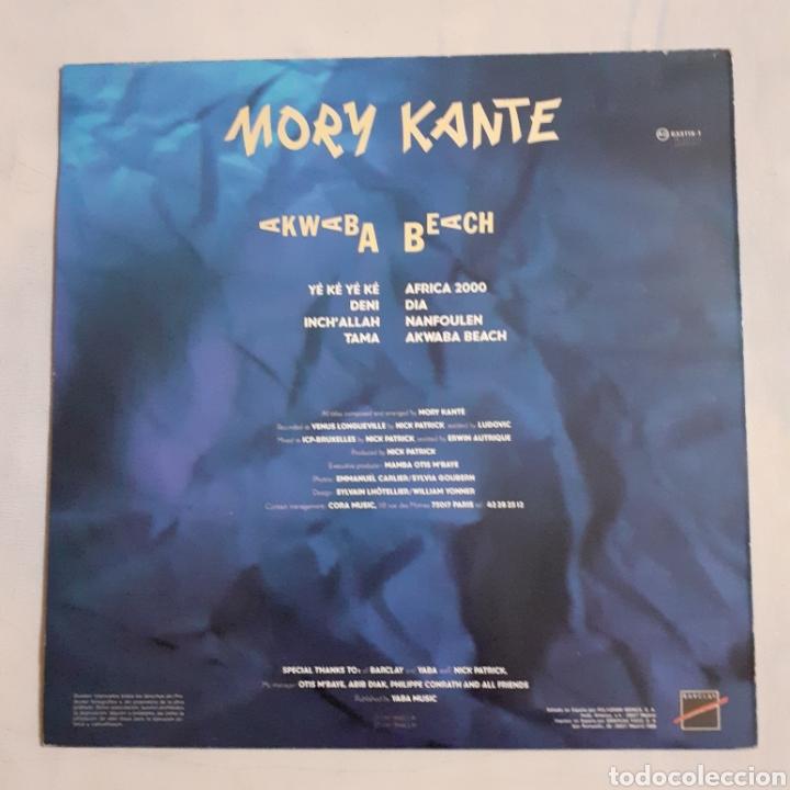 Discos de vinilo: Mory Kante. Akwaba Beach. AG 833119-1. 1988 España. - Foto 2 - 213112402