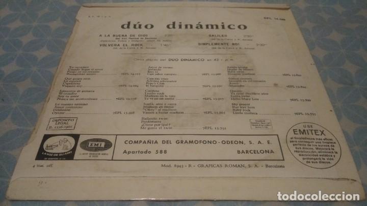 Discos de vinilo: DUO DINAMICO 1966 LA VOZ DE SU AMO EPL 14.246 - Foto 3 - 102086835