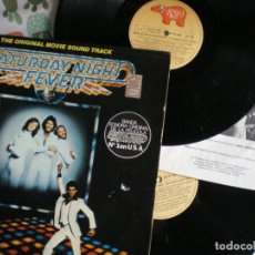 Discos de vinilo: BEE GEES, SATURDAY NIGHT FEVER, LP DOBLE, EDICION DE EPOCA. Lote 213118311