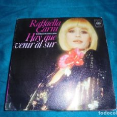 Discos de vinilo: RAFFAELLA CARRA. HAY QUE VENIR AL SUR / SOY NEGRA. CBS, 1978. IMPECABLE (#). Lote 213139780