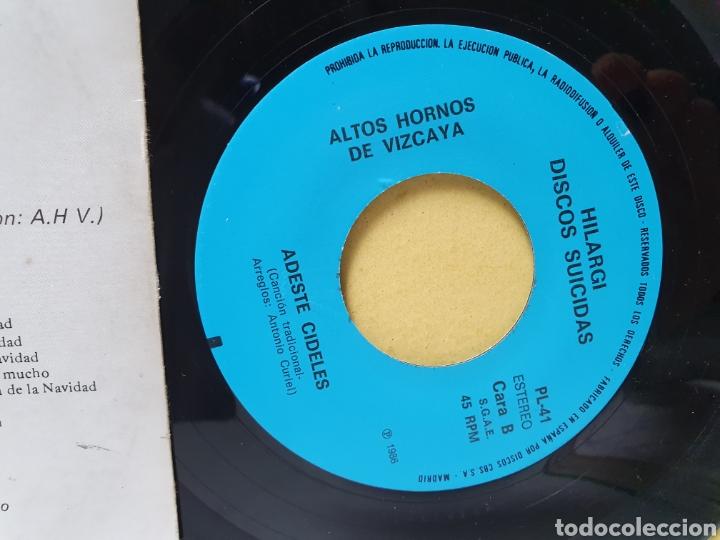 Discos de vinilo: AHV. EN NAVIDAD TAMBIEN COMEMOS. SINGLE 1986. HILARGI DISCOS SUICIDAS. - Foto 4 - 213150670