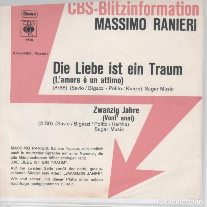 45 GIRI MASSIMO RANIERI DIE LIEBE IST EIN TRAUM(L'AMORE E' UN ATTIMO) CBS 7610 GERMANY 1971 (Música - Discos de Vinilo - Maxi Singles - Festival de Eurovisión)