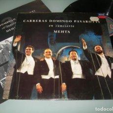 Dischi in vinile: CARRERAS DOMINGO PAVAROTI EN CONCIERTO - MEHTA ..LP DE DECCA DIGITAL RECORDING 1990. Lote 213157186