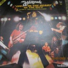 Discos de vinilo: WHITESNAKE - LIVE...IN THE HEART OF THE CITY DOBLE LP - ORIGINAL ESPAÑOL - LIBERTY RECORDS 1981 -. Lote 213158043