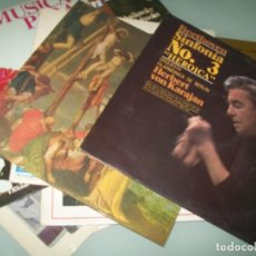 Dischi in vinile: LOTE DE 10 LP´S MUSICA CLASICA - BACH , HERVERT VON KARAJAN, CONCIERTOS VIOLIN .. ETC. Lote 213160057