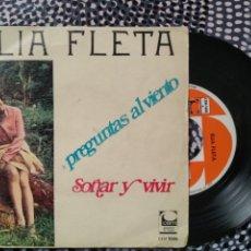 Discos de vinilo: VINILO ELIA FLETA (1968) SOÑAR Y VIVIR COMPAÑÍA ESPAÑOLA DE MÚSICA. Lote 213174105