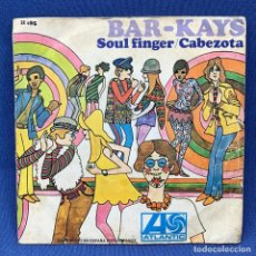 Discos de vinilo: SINGLE BAR- KAYS - SOUL FINGER / CABEZOTA - ESPAÑA - AÑO 1967. Lote 213178812