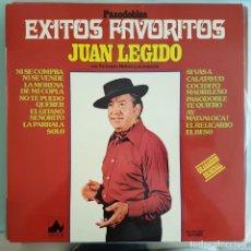 Discos de vinilo: DISCO LP FLAMENCO COPLA ÉXITOS FAVORITOS DE JUAN LEGIDO. Lote 213181200