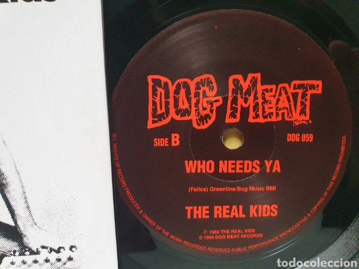 Discos de vinilo: THE REAL KIDS. NOW YOU KNOW. WHO NEEDS YA. DOG MEAT RECORDS. EDICION LIMITADA 1000. SINGLE 1994. - Foto 4 - 213187513