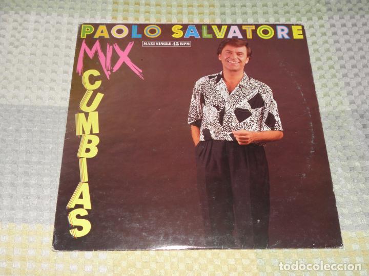 PAOLO SALVATORE / MIX CUMBIAS / DONDE ESTAS MARIANA (HISPAVOX 1988) (Música - Discos de Vinilo - Maxi Singles - Canción Francesa e Italiana)