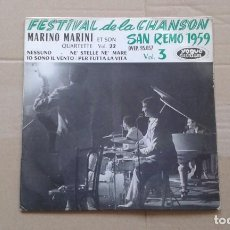 Discos de vinilo: MARINO MARINI - FESTIVAL DE LA CHANSON SAN REMO 1959 EP 4 TEMAS. Lote 213222182