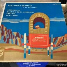 Discos de vinilo: EDUARDO BIANCO Y SU ORQUESTA EP CREPÚSCULO. Lote 213237150
