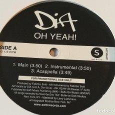 Discos de vinilo: DIA - OH YEAH! / HATE DAT. Lote 213249623