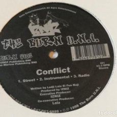 Discos de vinilo: THE BURN U.N.I. - CONFLICT / MY TIME TO SHINE - 1998. Lote 213250777
