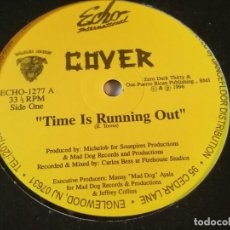 Discos de vinilo: COVER - TIME IS RUNNING OUT - 1996. Lote 213251415