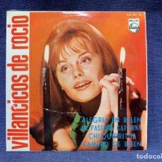 Discos de vinilo: DISCO PHILIPS ROCIO DURCAL VILLANCICOS ALEGRIA EN BELEN PASTORA CAMINO BELEN 45 RPM. Lote 213255367