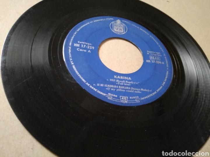 VINILO KARINA 1963 CON HISPAVOX DILE (Música - Discos de Vinilo - Maxi Singles - Solistas Españoles de los 50 y 60)