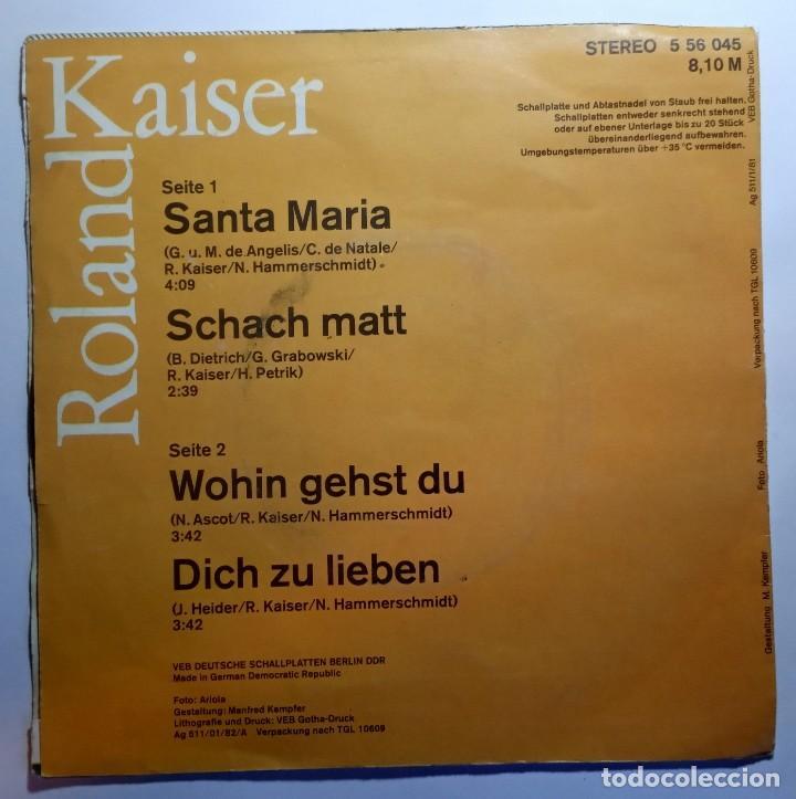 Discos de vinilo: ROLAND KAISER - santa maria - EP ALEMAN 1982 - AMIGA - Foto 2 - 213258380