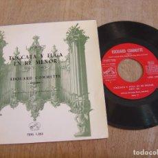 Discos de vinilo: VINILO. J. S. BACH. TOCATTA Y FUGA EN RE MENOR. 1959. PROBADO.. Lote 213250575