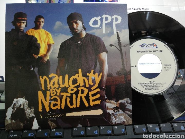 O.P.P. SINGLE PROMOCIONAL NAUGHTY BY NATURE ESPAÑA 1992 (Música - Discos - Singles Vinilo - Rap / Hip Hop)