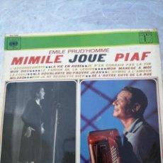 Discos de vinilo: LP EDITH PIAF MIMILE JOUE PIAF ESPAÑA CBS 1966. Lote 213270565
