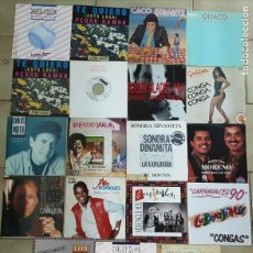 Discos de vinilo: LOTE DE 30 SINGLES DE SALSA, BACHATA, CUMBIA.... Lote 213271302