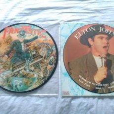 Discos de vinilo: ELTON JOHN LOTE 2 PICTURE DISC CAPTAIN FANTASTIC AND THE BROWN DIRT COWBOY + INTERVIEW BAK. Lote 213294692