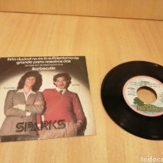 Discos de vinilo: SPARKS. THIS TOWN AIN'T BIG ENOUGH FOR BOTH OF US. BARBECUTIE.. Lote 213295951