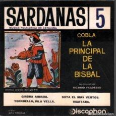 Discos de vinilo: COBLA LA PRINCIPAL DE LA BISBAL - SARDANES 5 FOLK CATALAN / EP DISCOPHON RF-4391. Lote 213310870