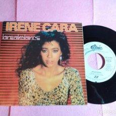 "Discos de vinilo: 7"" IRENE CARA – BREAKDANCE SPAIN PRESS PROMO 1 SIDED - EPC A-4105 (EX-/EX-). Lote 213316563"
