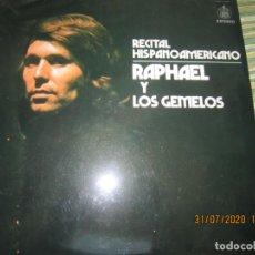 Discos de vinilo: RAPHAEL - RECITAL HISPANOAMERICANO LP - ORIGINAL ESPAÑOL - HISPAVOX 1975 - ESTEREO -. Lote 213323943