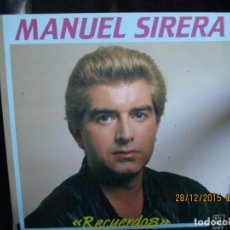 Discos de vinilo: MANUEL SIERRA-RECUERDOS. Lote 213331181