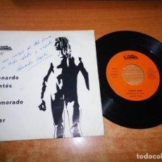 Discos de vinilo: LEONARDO DANTES ENAMORADO DE JAVIER / NANO FIRMADO PORTADA SINGLE VINILO AÑO 1979 CONTIENE 2 TEMAS. Lote 213342853