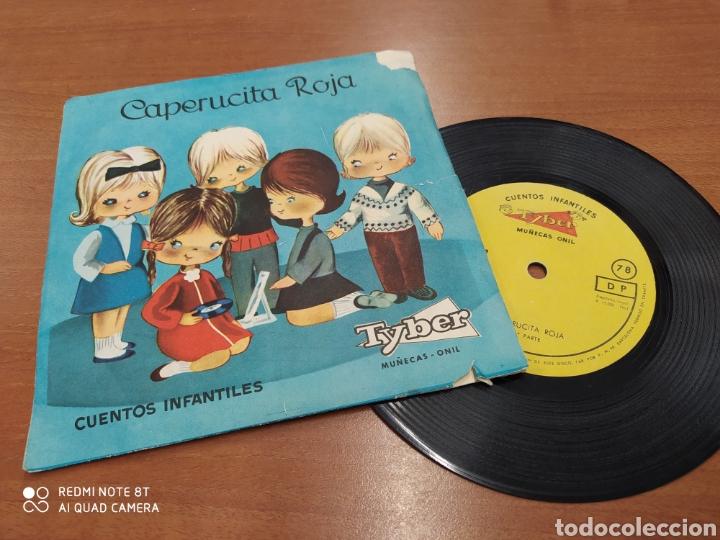 CAPERUCITA ROJA. CUENTOS INFANTILES TYBER. MUÑECAS ONIL. SINGLE VINILO AÑOS 60 (Música - Discos - Singles Vinilo - Música Infantil)