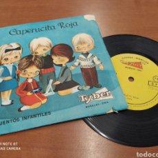 Discos de vinilo: CAPERUCITA ROJA. CUENTOS INFANTILES TYBER. MUÑECAS ONIL. SINGLE VINILO AÑOS 60. Lote 213355870