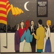 Discos de vinilo: LP COBLA MONTGRINS : MOLLET CIUTAT PUBILLA DE LA SARDANA. Lote 213360145