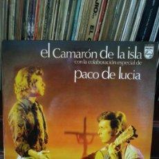 Discos de vinilo: CAMARÓN DE LA ISLA CON LA COLABORACIÓN DE PACO DE LUCÍA . LP. Lote 213378788