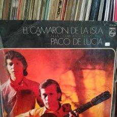Discos de vinilo: CAMARÓN DE LA ISLA CON LA COLABORACIÓN DE PACO DE LUCÍA . LP. Lote 213378930