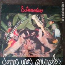 Discos de vinilo: EXTREMODURO: SOMOS UNOS ANIMALES. 1º EDICION LP VINILO CANTO UN POCO DETERIORADO. Lote 213383386