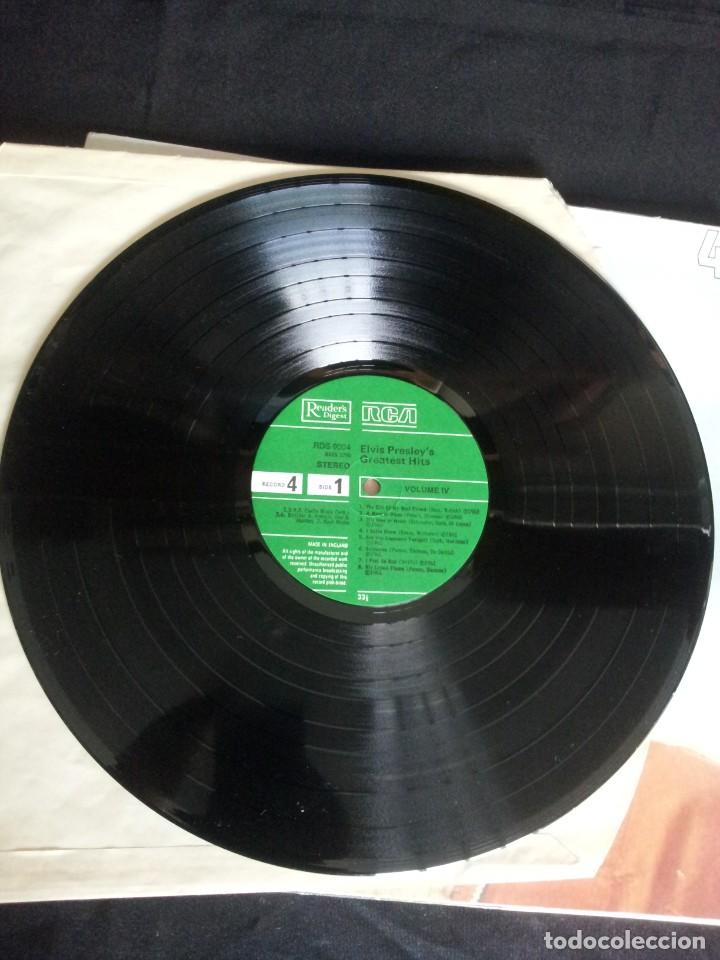 Discos de vinilo: ELVIS PRESLEY - LP, ELVIS PRESLEYS GREATEST HITS (VOLUMEN IV) - READERS DIGEST, RCA - Foto 3 - 213408491