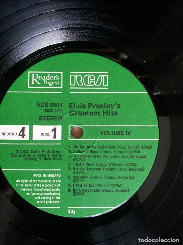Discos de vinilo: ELVIS PRESLEY - LP, ELVIS PRESLEYS GREATEST HITS (VOLUMEN IV) - READERS DIGEST, RCA - Foto 4 - 213408491