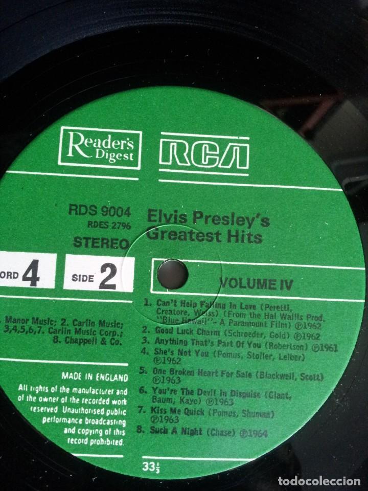 Discos de vinilo: ELVIS PRESLEY - LP, ELVIS PRESLEYS GREATEST HITS (VOLUMEN IV) - READERS DIGEST, RCA - Foto 6 - 213408491