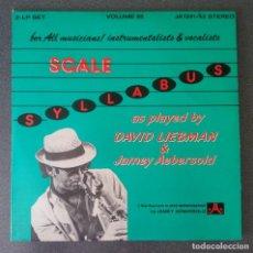 Discos de vinilo: VINILO LP SCALE SYLLABUS DAVID LIEBMAN & JAMEY AEBERSOLD. Lote 213415833