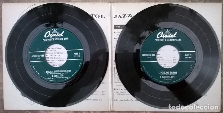 Discos de vinilo: Pete Dailys Dixieland Band. Capitol EBF-183, USA 1950 (2 EP + doble caprpeta) - Foto 4 - 213437976