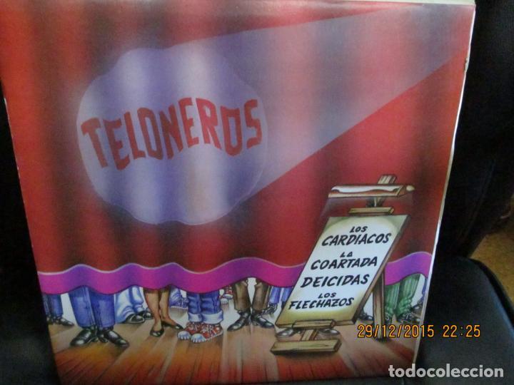 LOS CARDIACOS, LA COARTAA, DEICIDAS, LOS FLECHAZOS – TELONEROS (Música - Discos - LP Vinilo - Grupos Españoles de los 70 y 80)